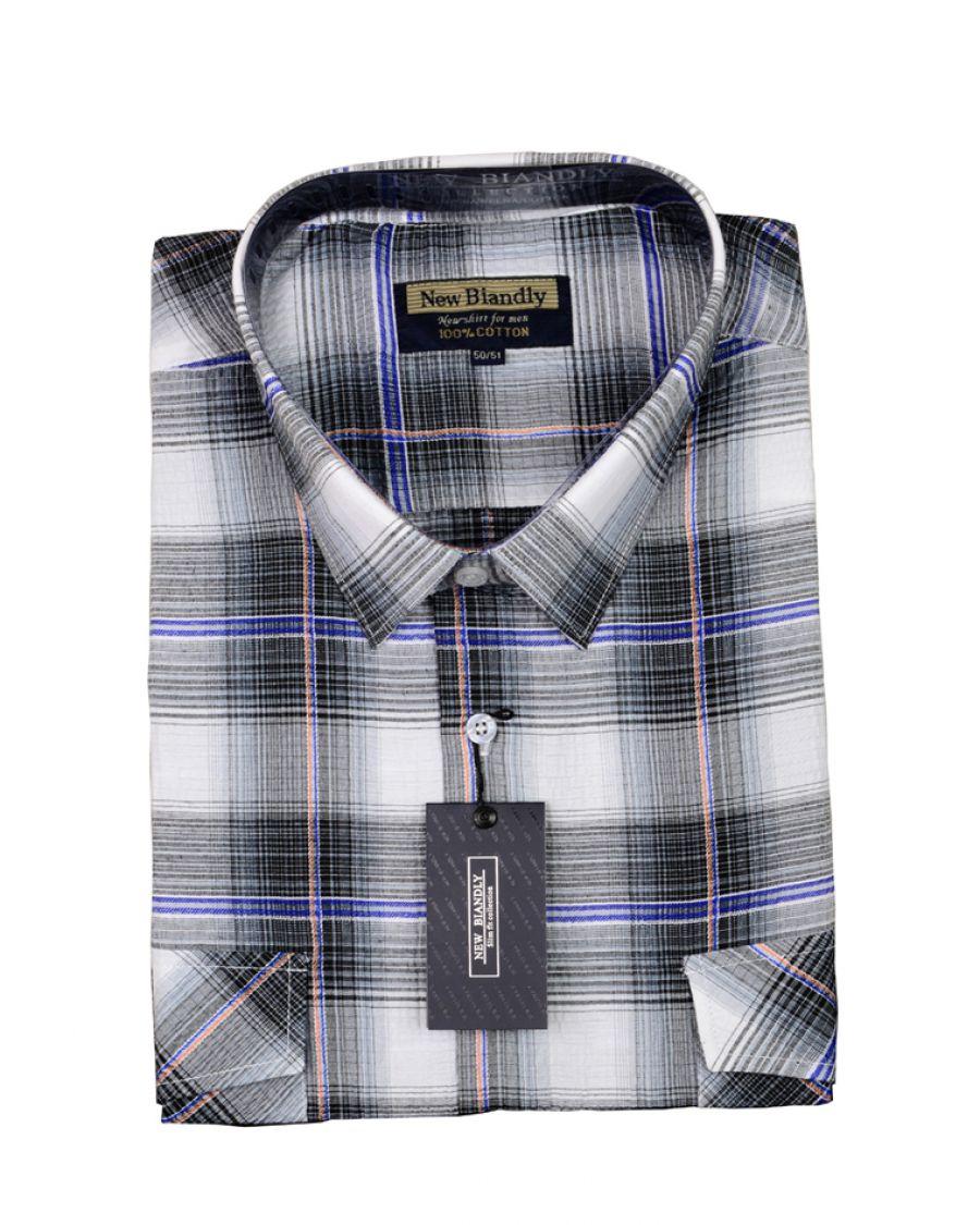 5404 Koszula męska, krótki rękaw, kora 3XL, 5XL Leeway  2DXh6
